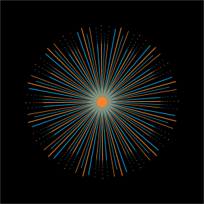 Sunburst design