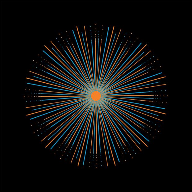 Sunburst design