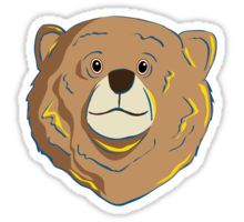 Redbubble sticker of a happy bear