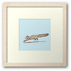 Redbubble framed print of a sprinting squirrel