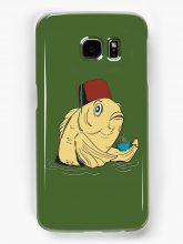 Redbubble phone case featuring the fez fish
