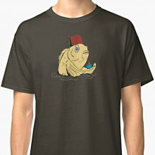 Redbubble t-shirt featuring the fez fish