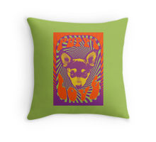 Puppy Love design decorating a Redbubble throw pillow