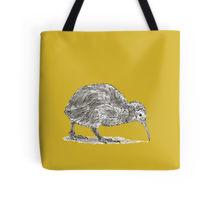 Kiwi bird design decorating a Redbubble tote bag