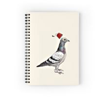 Redbubble Unflappable spiral notebook
