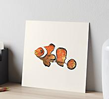 Redbubble clownfish art board