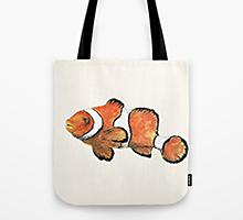 Society6 clownfish tote bag