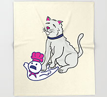 Making Biscuits Society6 throw blanket