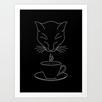 Society6 coffee lover art print