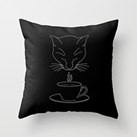 Society6 coffee lover throw pillow