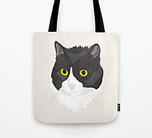 Society6 Casual Cat tote bag