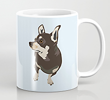 Society6 hopeful dog coffee mug
