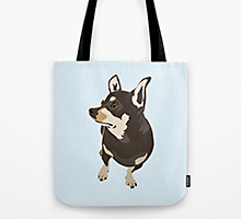 Society6 hopeful dog tote bag
