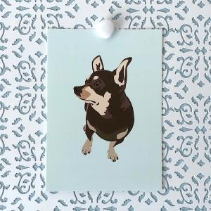 Hopeful Dog 5x7 art print