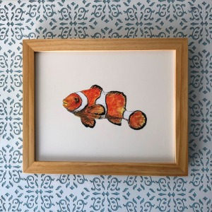 Clownfish 8x10 print at Etsy