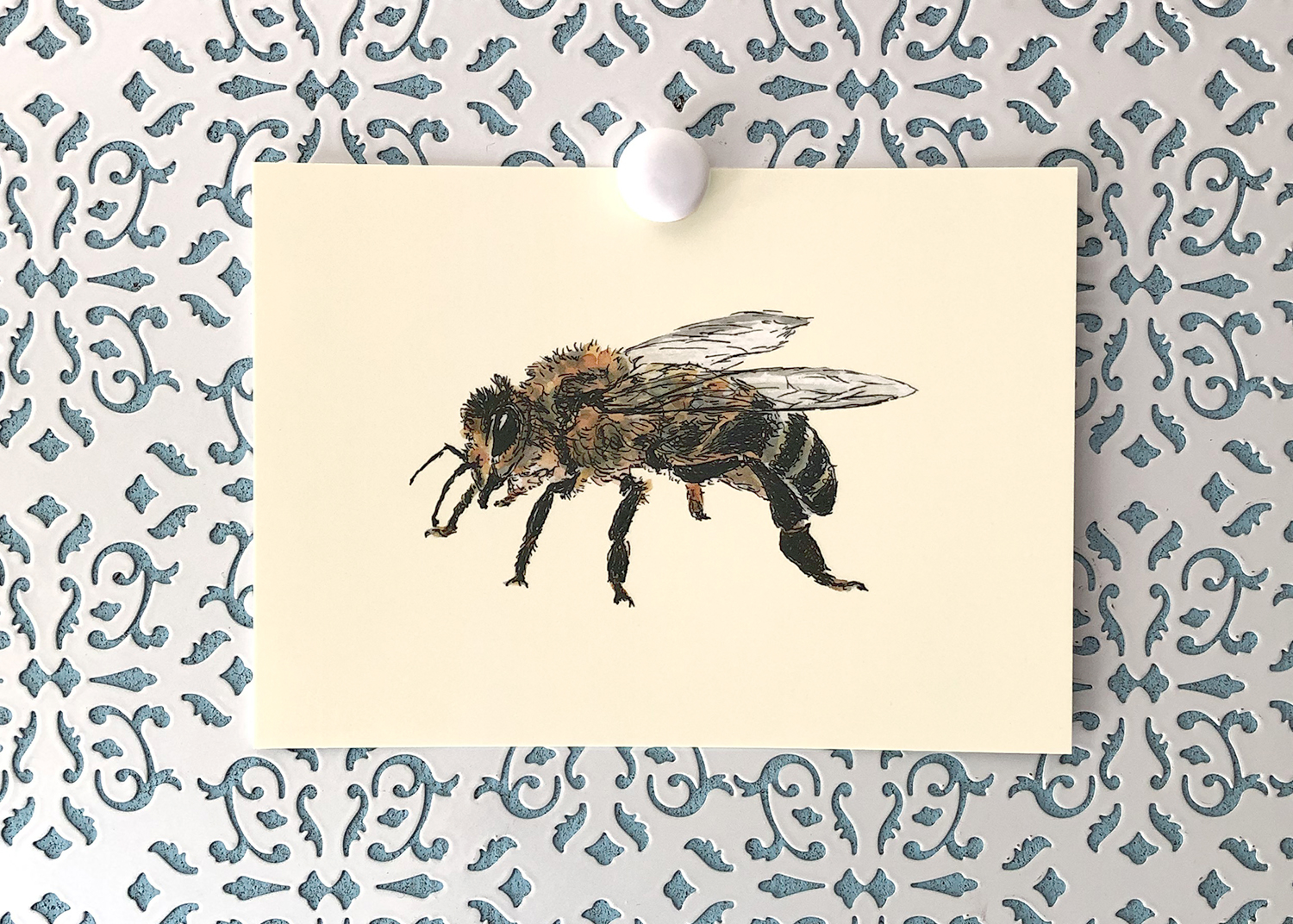 Honey Bee 5x7 art print