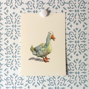Waddle Duck 5x7 art print