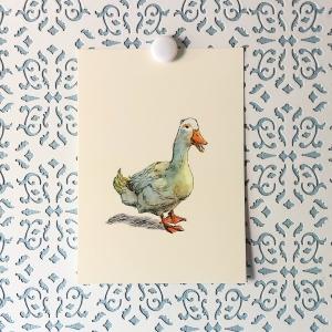Waddle Duck 5x7 art print