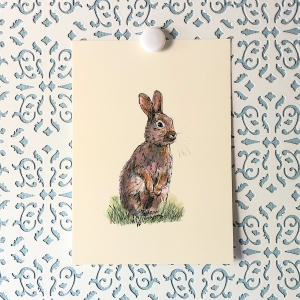 Rabbit 5x7 art print