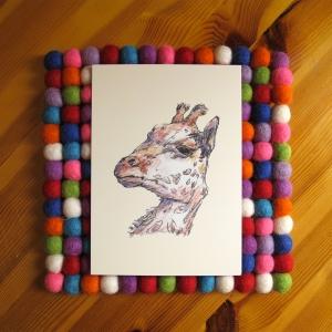 Giraffe 5x7 art print