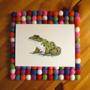 Frog 5x7 art print