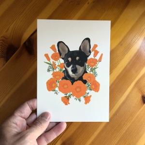 Poppy Dog 5x7 print