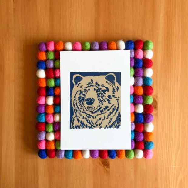 Blue Bear 5x7 print