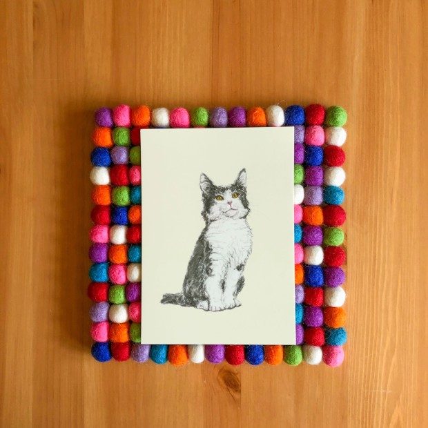 Kitty 5x7 print
