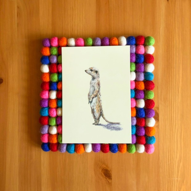 Meerkat 5x7 print