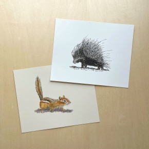 chipmunk and porcupine 8x10 prints